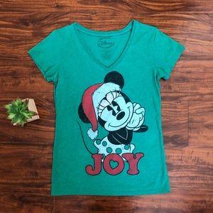 NWOT Disney green t-shirt  V neck Size L
